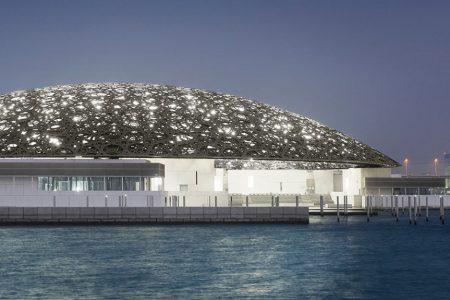 Het nieuwe Louvre museum in Abu Dhabi