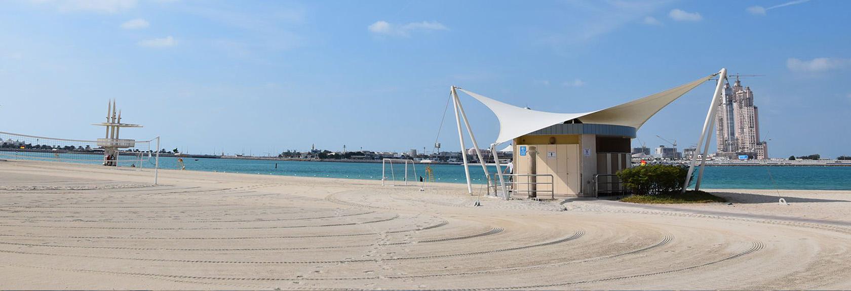 Stranden in Abu Dhabi